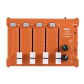 Professional Mini Pocket 4-Channel mono Stereo Audio DJ Sound Mixer USB Powered BT Connecting Mobile Phone Orange