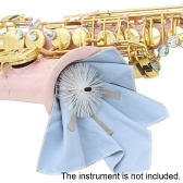 Sax Saxphone Cleaning Cloth with Brush for Inside Tube