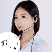 Uni-Directional Head-mounted Headworn Headset Microphone Mic Flexible Wired Boom for Voice Amplifier Amp Loudspeaker