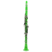 Clarinet ABS 17 Key bB Flat Soprano Binocular Clarinet with Cork Grease Cleaning Cloth Gloves 10 Reeds Screwdriver Reed Case Woodwind Instrument