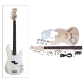 JAZZ Bass Style 4-String Electric Bass Solid Basswood Body Maple Neck Rosewood Fingerboard DIY Kit Set