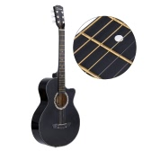 "38"" Acoustic Folk 6-String Guitar for Beginners Students Gift"
