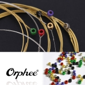 Orphee TX620 6pcs  Acoustic Folk Guitar String Set (.010-.047)  Phosphor Bronze Extra Light Tension