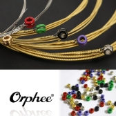 Orphee TX640 6pcs  Acoustic Folk Guitar String  Set (.012-.053) Phosphor Bronze Medium Tension