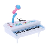 31 Keys Multifunctional Mini Simulation Piano Toy with Detachable Microphone Electrical Keyboard Electone Gift for Babies Children Kids