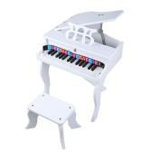 30 Keys Hardwood Learn-To-Play Piano Musical Instrument Toy Gift with Bench for Kid Child Baby Beginner Amateur