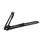 Foldable Spring Extension Suspension Boom Scissor Arm Microphone Stand Bracket for Studio Recording