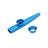 Kazoo Aluminum Alloy Metal with 5pcs Flute Diaphragm Gift for Kids Music Lovers