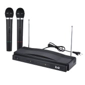 Studio Wireless Mic Remote Microphone System Kit FM Transmitter Receiver with Audio Cable for KTV Teaching Show
