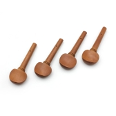 4pcs 4/4 Size Violin Fiddle Tuning Peg Set Jujube Wood Wooden Replacement for 4/4 Size Violin