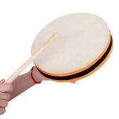 """8"""" Wood Hand Drum Dual Head with Drum Stick Percussion Musical Educational Toy Instrument for KTV Party Kids Toddler"""