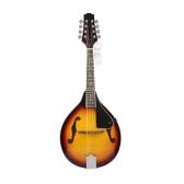 8-String Basswood Sunburst Mandolin Musical Instrument with Rosewood Adjustable Bridge