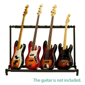 7 Seven Multiple Guitar Bass Folding Display Holder Stand Rack Band Stage