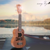 "21"" Mini  Ukulele Sapele Top Rosewood Fretboard Stringed Musical Instrument 4 Strings"