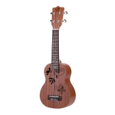 "21"" Mini Ukelele Sapele Top Rosewood Fretboard Stringed Musical Instrument 4 Strings"