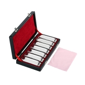 Swan Harmonica 10 Holes Harp Blues Harp Blues Harmonica Diatonic Harmonica Set 7 Piece (A-G) W/ Exquisite Box + Wipes