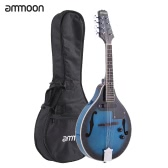ammoon A-Style Electric Mandolin Basswood Body Rosewood Bridge Fingerboard 8 Strings with EQ Gig Bag