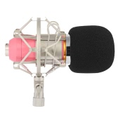 Broadcasting Studio Recording Condenser Microphone Mic with Shock Mount Anti-wind Sponge Cover Cable