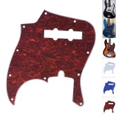 4Ply PVC JB Style Bass Pickguard Pick Guard Scratch Plate 10 Hole for Fender American/Mexico Made Standard Jazz Bass White Pearl