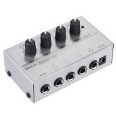 HA400 Ultra-compact 4 Channels Mini Audio Stereo Headphone Amplifer with Power Adapter