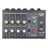 Ultra-compact Low Noise 8 Channels Metal Mono Stereo Audio Sound Mixer with Power Adapter Cable