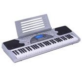 XTS-6089 61 Keys Multifunctional Digital Electronic Keyboard Electric Piano Organ LCD Display with Sheet Music Holder Power Adapter