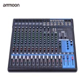 ammoon MG16XU 16-Channel 6-Bus Mic Line Audio Digital Mixer Mixing Console 3-band EQ with Built-in Effects USB Interface