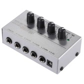 MX400 Ultra-compact Low Noise 4 Channels Line Mono Audio Mixer with Power Adapter