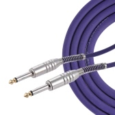3 Meters/ 10 Feet Guitar Instrument Mono Cable Straight 1/4 Inch TRS to Straight 1/4 Inch TRS Male Plug PVC Jacket