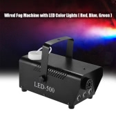 Colorful 400 Watt Fogger Fog Smoke Machine with LED Color Lights(Red, Blue, Green) Wired Remote Control for Party Live Concert DJ Bar KTV Stage Effect