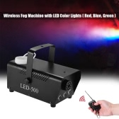 Colorful Wireless 400 Watt Fogger Fog Smoke Machine with LED Color Lights(Red, Blue, Green) Remote Control for Party Live Concert DJ Bar KTV Stage Effect