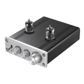Mini HiFi 6J1 Vacuum Tube Stereo Audio Pre-amplifier Buffer Preamp Aluminum Alloy with Power Adapter