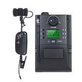 Portable Clamp Clip on UHF Instrument Wireless Microphone System with Receiver & Transmitter 32 Channels for Sax Saxophone