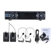 Baomic D-332 Professional Dual Channel UHF Digital Wireless Headset Microphone System