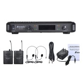Baomic BM-U752 Professional Dual Channel UHF Digital Wireless Headset Microphone System