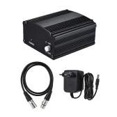 1-Channel 48V Phantom Power Supply with Adapter & XLR Male to XLR Female Audio Cable for Condenser Microphone Studio Music Recording Broadcasting Equipment