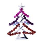 Charming Shining Rhinestone Christmas Tree Starfish Brooch Collar Clip Pin Scarf Buckle Holiday Gift