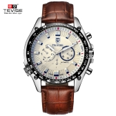 TEVISE New Arrivals Men Fashion Luxury Brand Man Watches Full Steel Discolored Glass Military Style Automatic Mechanical Man Watch Multi-fuction Self-winding Wristwatch