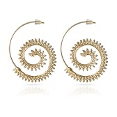 Fashion Vintage Plated Circles Round Spiral Heart Water-drop Shaped Dangle Earrings Charm Unique Women Party Earrings Jewelry