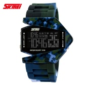SKMEI 2016 Brand Fashion Camouflage Style Digital Men Sports Miltary Watch Unique Multi-function Water-resistant Casual Outdoor Man