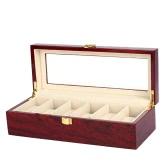 6-Slot Watch Display Box Noble Piano Lacquer Wristwatch Jewelry Storage Organizer Accessories