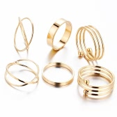 6Pcs Retro Vintage New Korean Joint Finger Knuckle Ring Fashion Jewelry Charm Accessories Gifts for Women Alloy