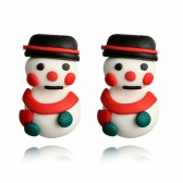 Fashion Personality Handmade Cute Snowman Ear Studs
