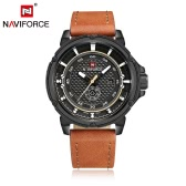 NAVIFORCE 2016 Brand Fashion 30M Water-proof Quartz Man Sports Watch PU Strap Men Casual Wristwatch Week & Calendar + Watch Box