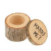 Vintage Wooden Printed Chic Rustic Wedding Ring Bearer Custom Engagement Valentine