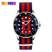 SKMEI Brand Fashion England Style Nylon Strap Men & Women Casual Wristwatch Quartz Water-proof Lover