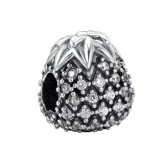Romacci S925 Sterling Silver Elegant Heart Key Dangling