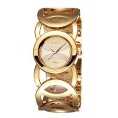 Weiqin Luxury Bracelet Style Watch Super Simple Delicate Watch Dial with Rhinestone Embedded Elegant Wristwatch for OL Women Girl