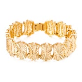 Popular Gold Plated Jewelry Fashion Women Lady High Quality Beautiful Wide Bracelet