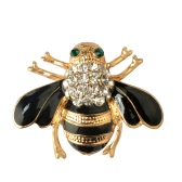 Fashion Cute Bee Brooch Bouquet Hat Scarf Clip Accessory Crystal Breastpin for Women Party